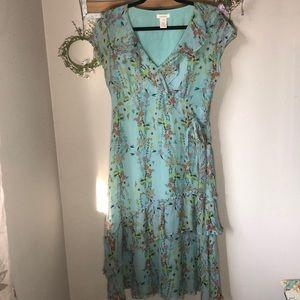 Sundance Silk Ruffle Dress